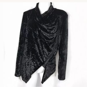 Blank nyc black asymmetrical jacket